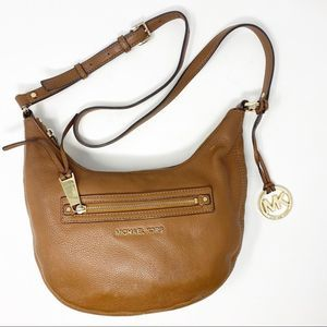 Michael Kors Small Hobo Crossbody Tan